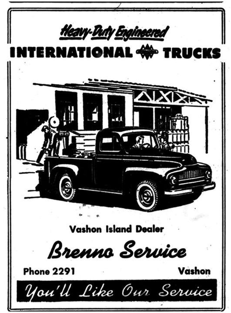 renno's ad from Vashon News Record